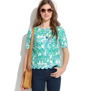 Madewell scalloped lace blouse